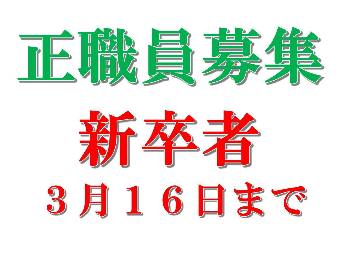 7/1採用 正職員(新卒者)を募集(3/16まで)